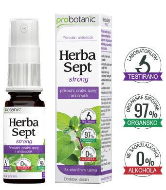Herba Sept Strong - oralni antiseptik sprej