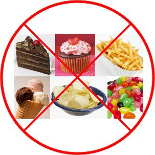 no to sweets