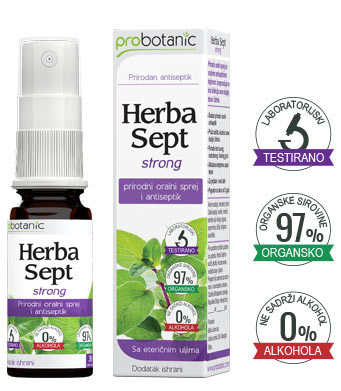 Herba Sept strong prirodni rastvor za ispiranje usta i ždrela